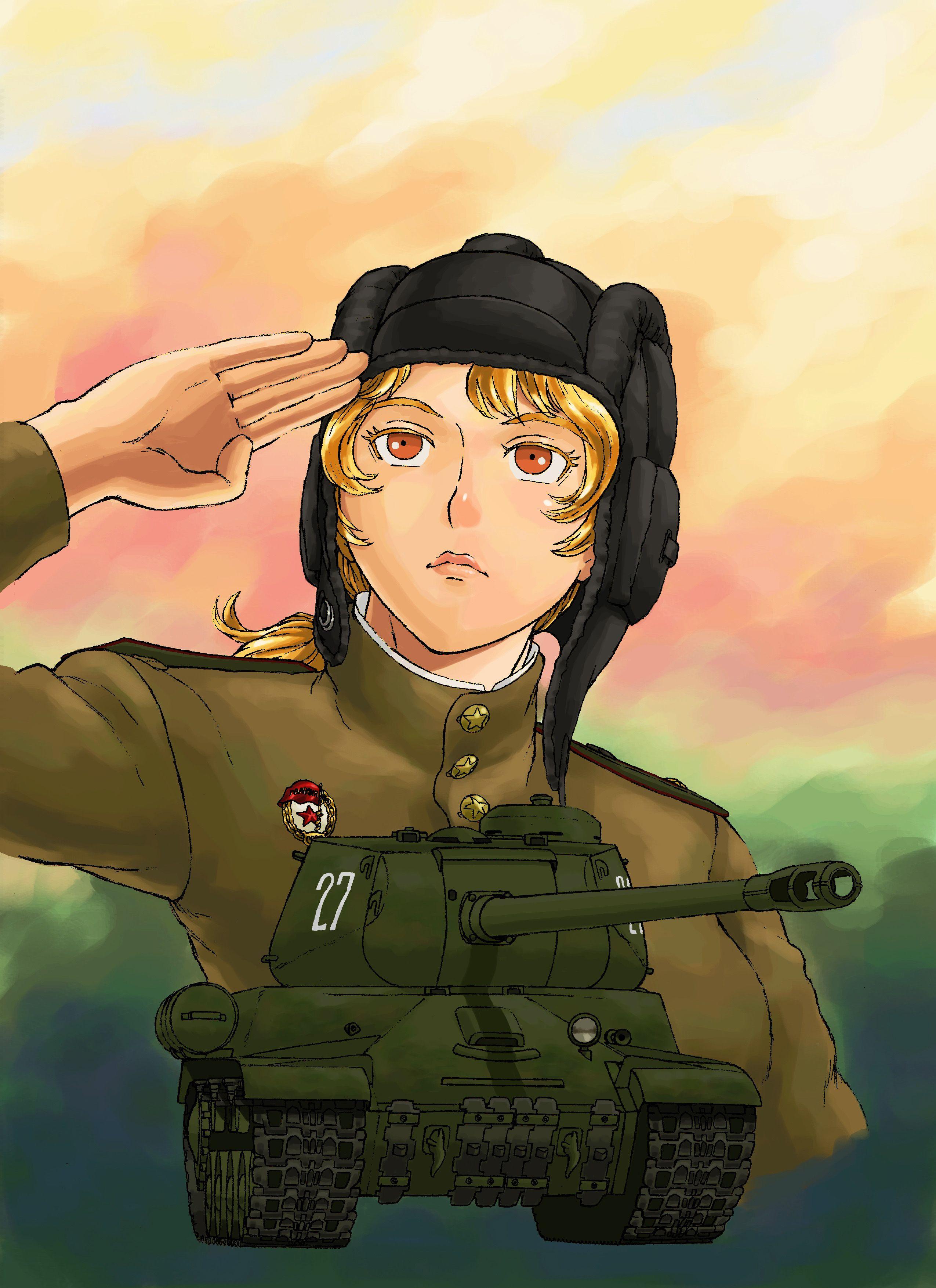 Usakotsu drew a Russian IS-2 heavy tank and woman tank ...