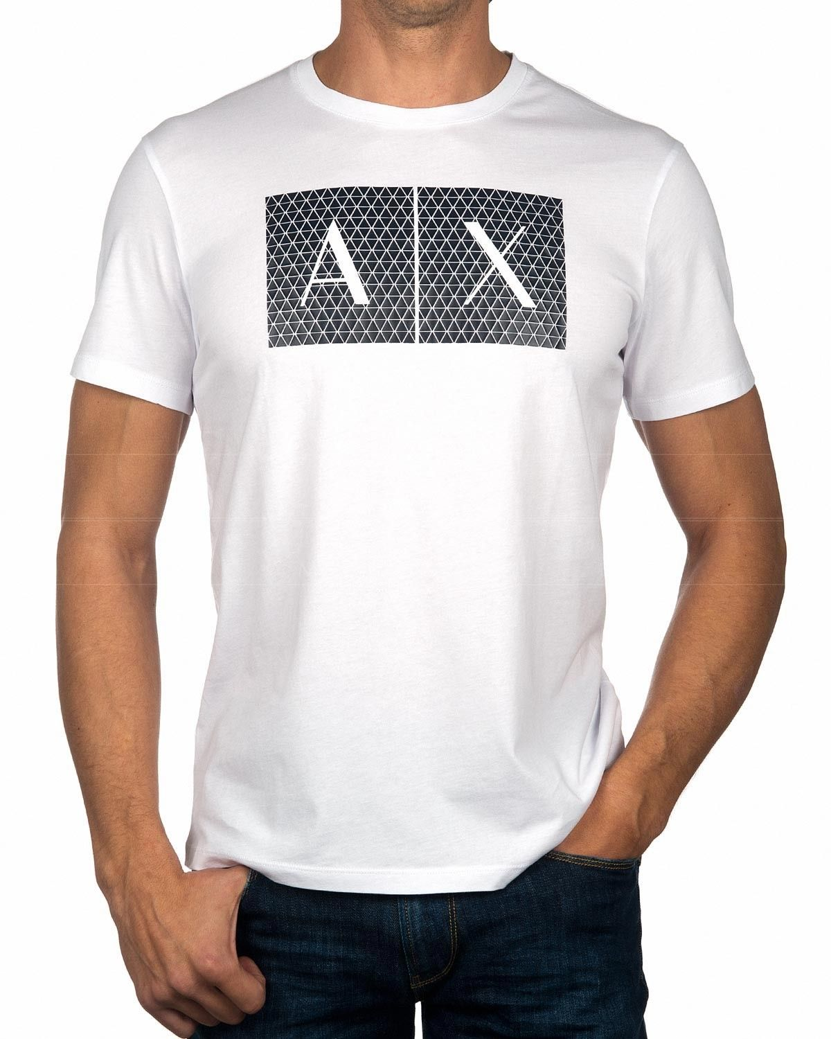 68062002a1c Camiseta ARMANI EXCHANGE ® Blanco y Negro