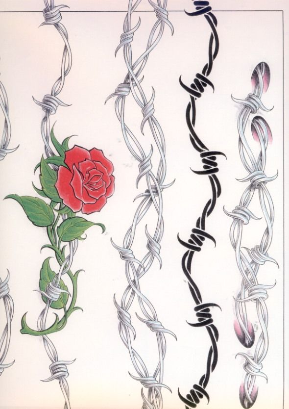 Barbed Wire Rose Tattoo: Arm Band Tattoos 89ar54.jpg Follow Link To Print Full Size