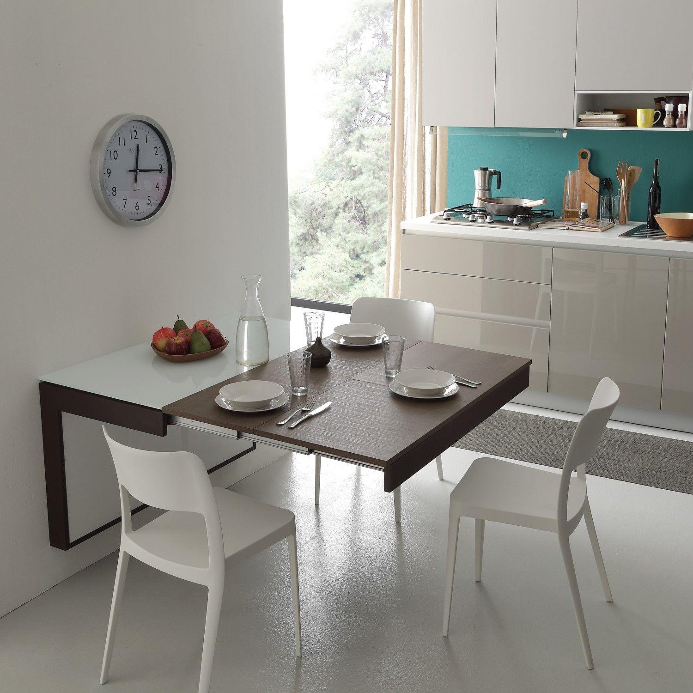 Consolle A Muro Moderna Kosmos Diotti Com Tavolo Estraibile Cucina Arredo Interni Cucina Tavolo Consolle