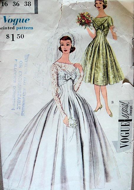 Vintage wedding dress ideas: Collection of old Wedding Dress Patterns