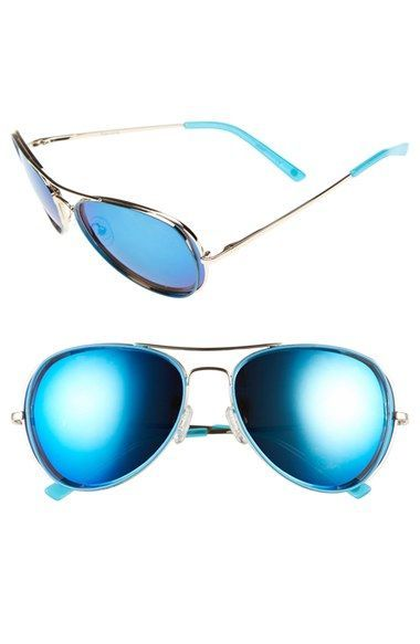 kensie 'Hollyn' 60mm Polarized Aviator Sunglasses