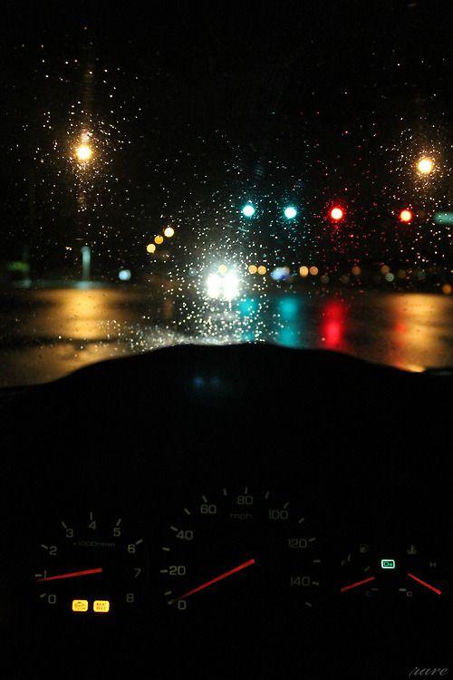 Car Road night time | tumblr | Late night drives, Night rain