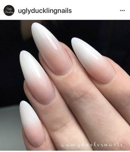 19 Ideas Nails French Round Ombre Nail Designs French Manicure Acrylic Nails Manicure