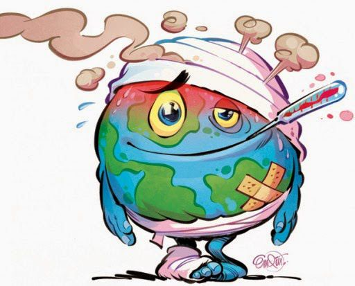 How Is Earth Doing Global Warming Art Earth Drawings Global