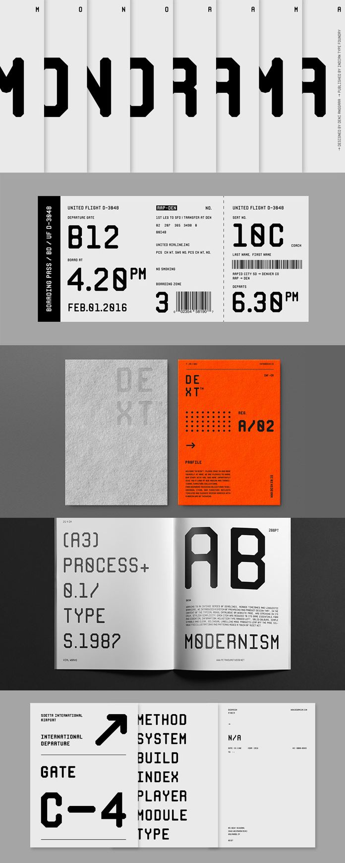 Monorama Font Family From Indian Type Foundry Design