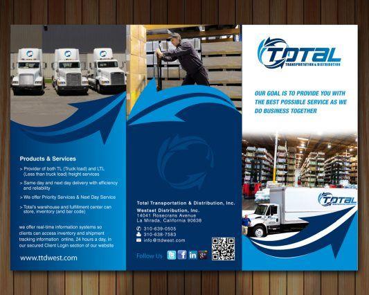 Contoh Company Profile Perusahaan Transportasi Desain Profil Perusahaan Brosur Transportasi