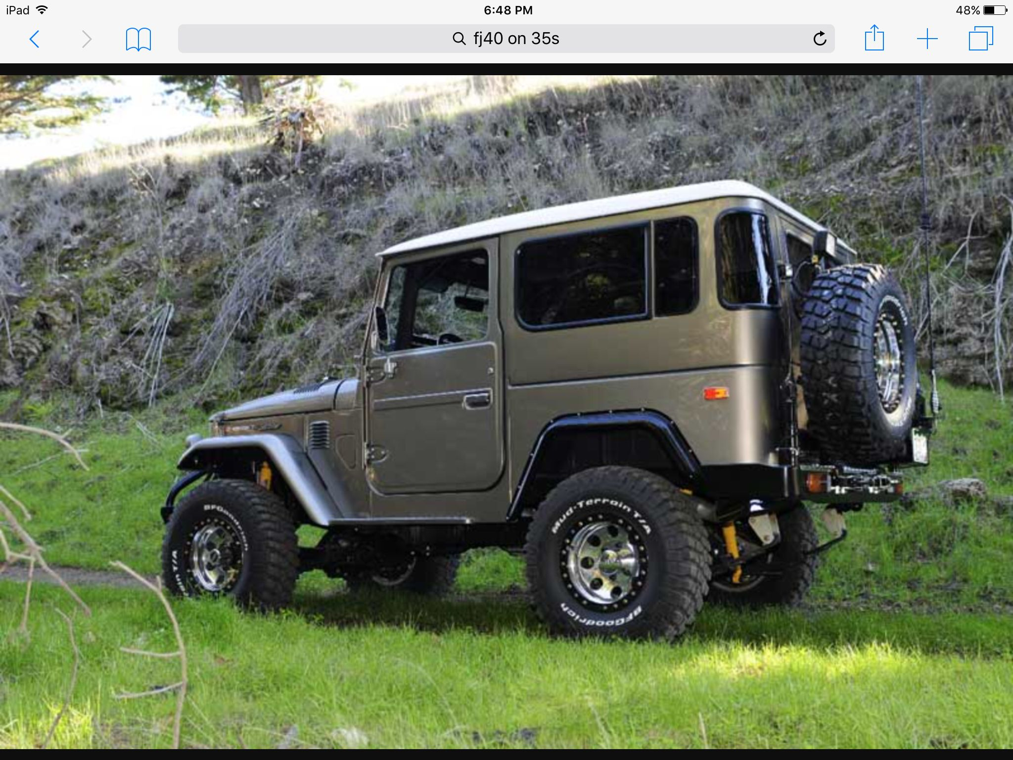 Love this fj40 the colour is awesome toyota
