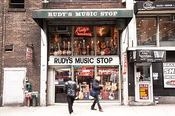 rudy 39 s music since 1978 on new york 39 s music row rudy 39 s music store guitar shop music store. Black Bedroom Furniture Sets. Home Design Ideas