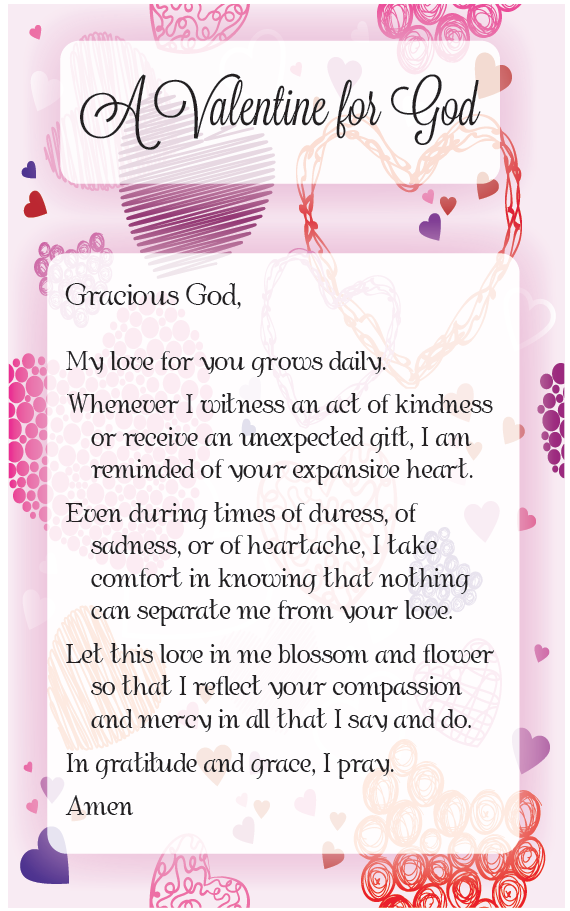 get a valentine for god prayer cards and share them with your family and - Valentine Prayer