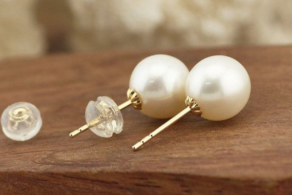 T-L801 AAA pearl earrings,18k gold earrings,freshwater pearl,stud earrings,Wedding earrings,high luster pearl earrings,braidsmaide earrings