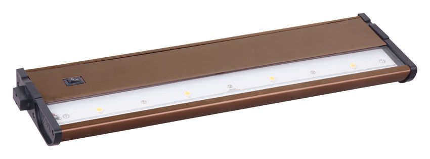 Maxim LED Under Cabinet Light From The CounterMax MX Collect Metallic  Bronze Indoor Lighting Under Cabinet Light Bars