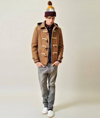 Back Check Duffle Coat(Brown)