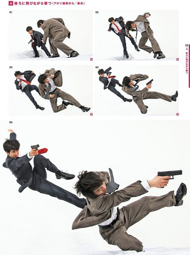 Drawing a cop flipping over another cop while they fire guns? There's a reference book forthat!   SoraNews24 -Japan News-