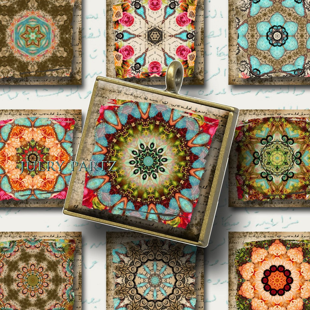 MOROCCAN RELICS 1x1, Printable Digital Images, Cards, Gift Tags ...