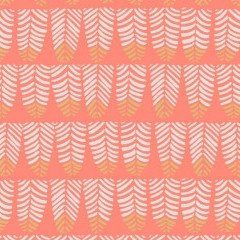 Trail Mix Feathers in Coral