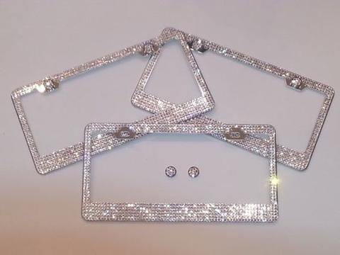 Ultra Bling Crystal License Plate Frame | I Love Being a Girly Girl ...