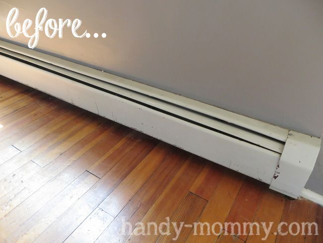 Painting baseboard heaters for the home pinterest for Paint baseboard heater