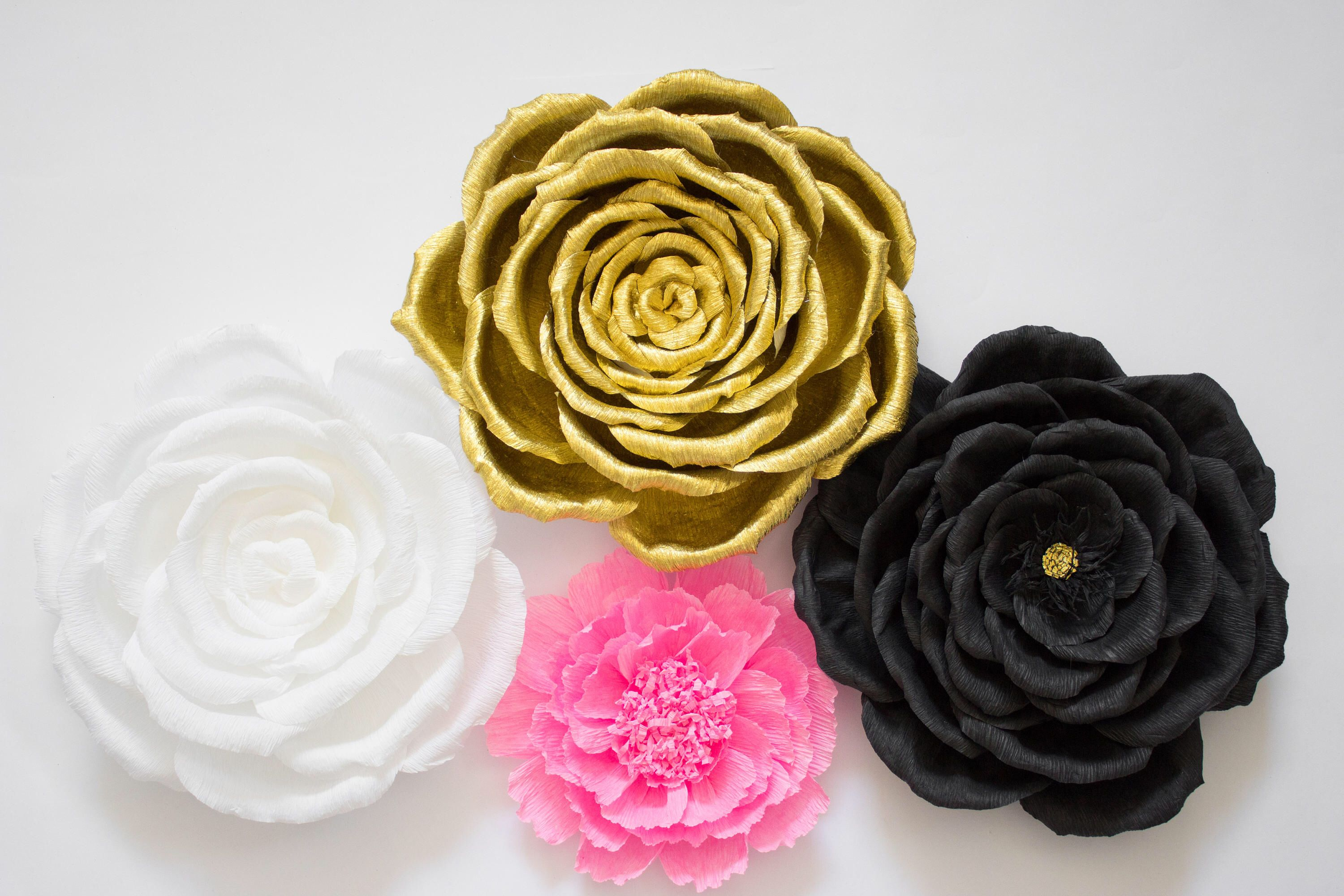 Kate Spade Inspired Paper Flowers, Paper Flower Backdrop, Baby ...