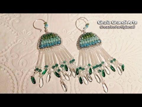 DIY - Orecchini Medusa, Embroidery Beads - YouTube