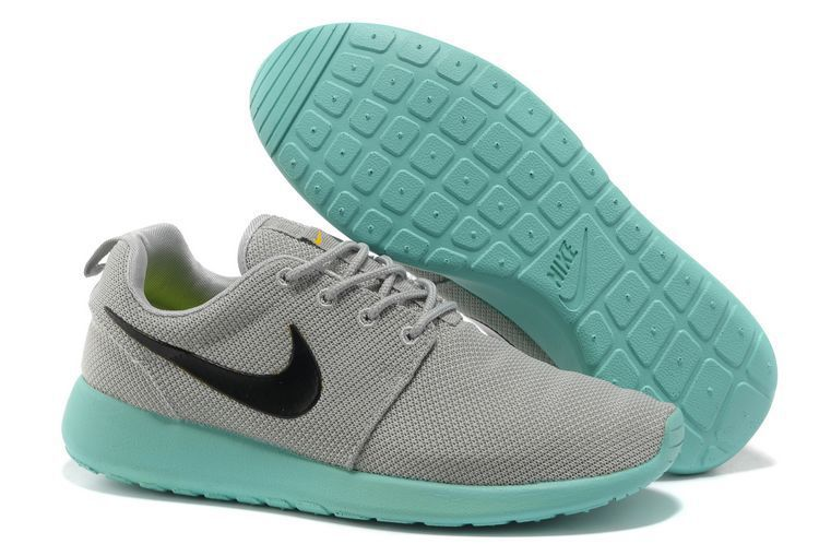 check out 31fd9 96247 Cheap Nike Roshe Run Mesh Couple Wmns Gray Bamboo Green Trainer Dorset  YI143 - Click Image