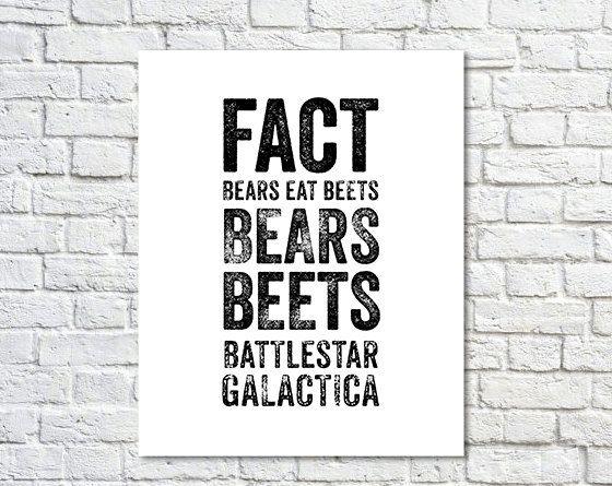 Bears Beets Battlestar Galactica Wallpaper