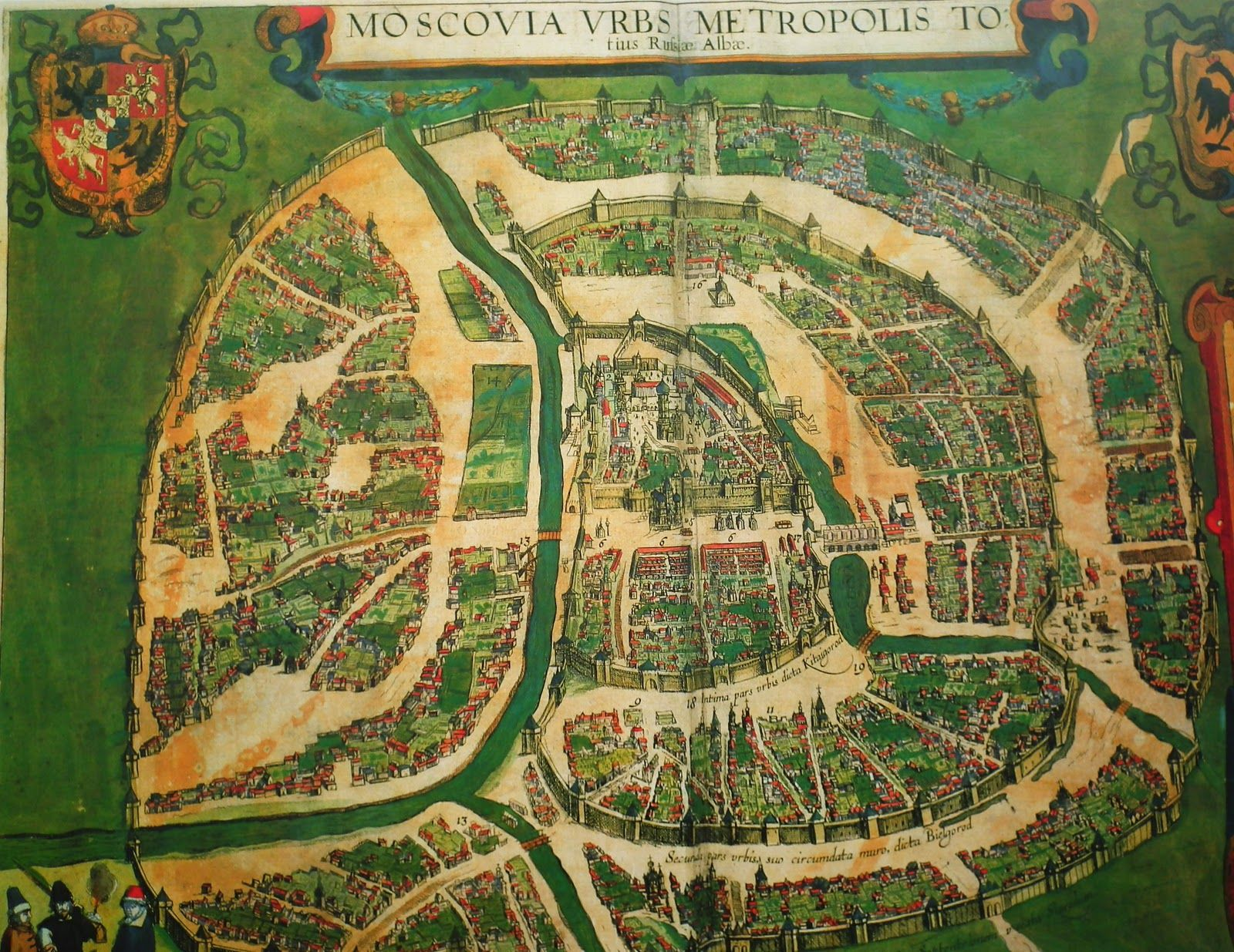 Map of Moscow, 16th Century | Antique maps, Historical maps ...