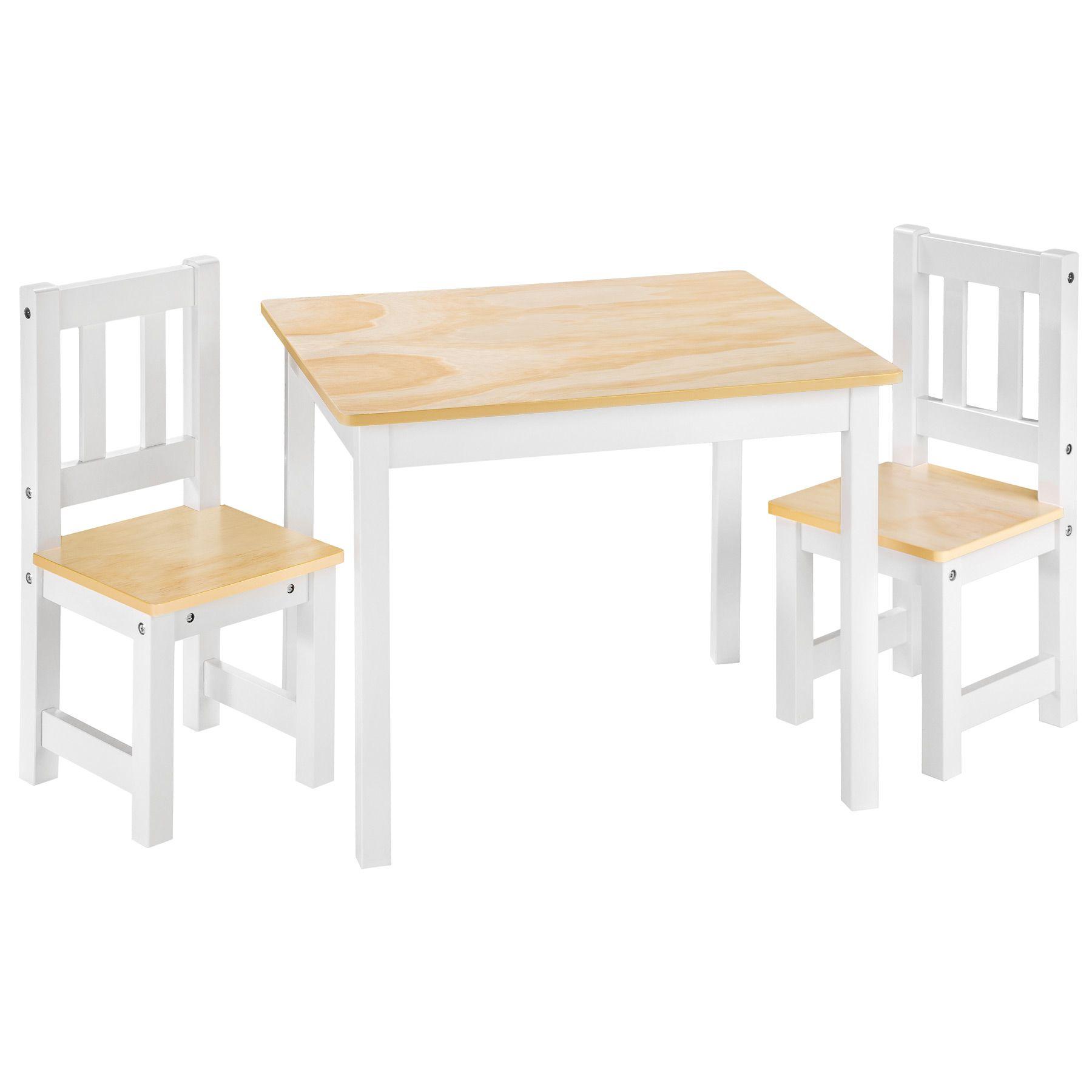 Pin Von Tectake Auf Chambre Enfant Kinder Tisch Und Stuhle Holztisch Weiss Kindersitzgruppe