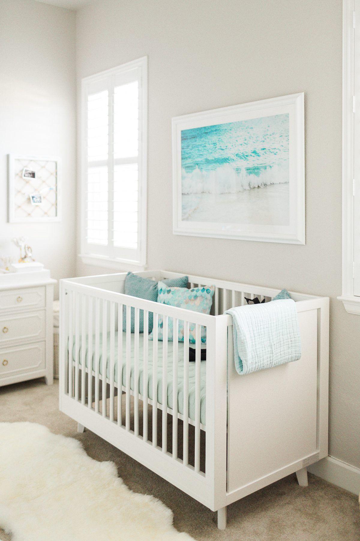 Nursery Reveal Ocean Inspired Nursery Design Nursery Room