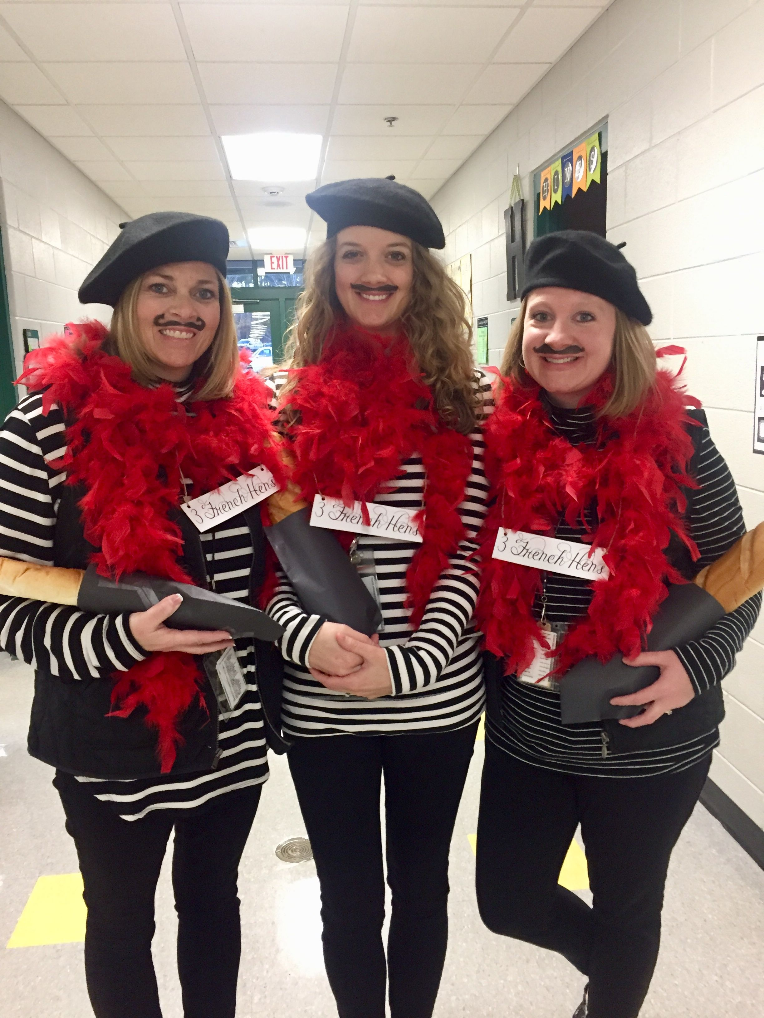 3 French Hens for our Christmas costume contest (With