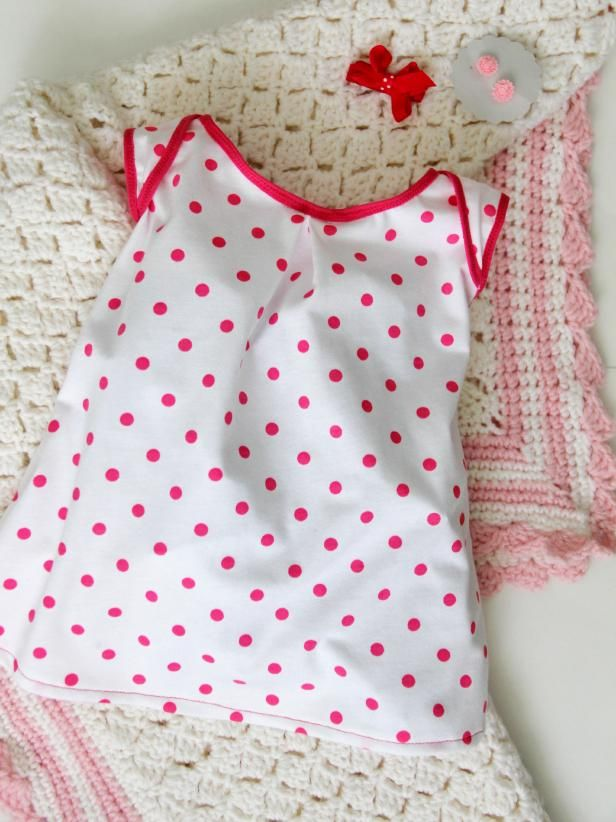 How to Sew a Knit Baby Dress with Free Pattern   Knit baby dress ...
