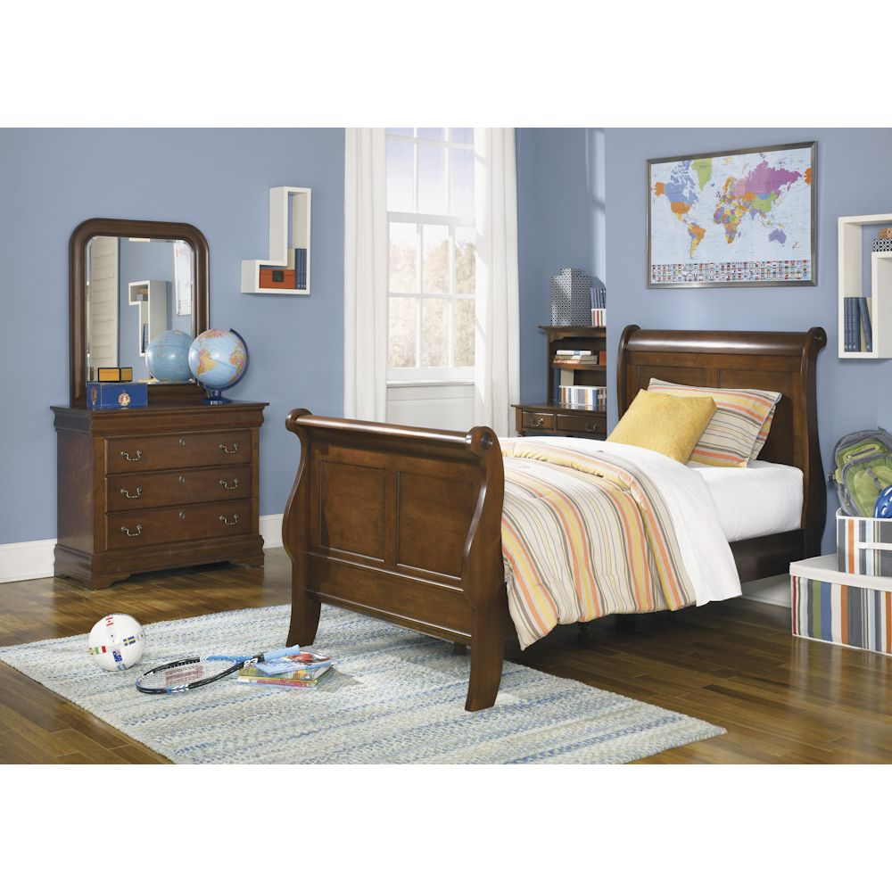 - Heritage Court Youth Bedroom Twin Sleigh Bed Furniture, Youth