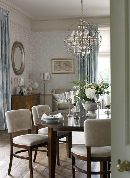 Dining Room Design · Laura Ashley Tetbury Patterned Wallpaper Sable