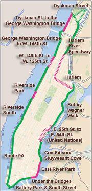 Manhattan Waterfront Greenway Map Riverside Park Map Waterfront