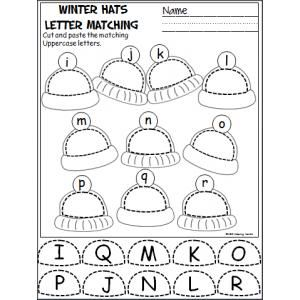 winter hats cut and paste i r classroom ideas preschool worksheets kindergarten. Black Bedroom Furniture Sets. Home Design Ideas