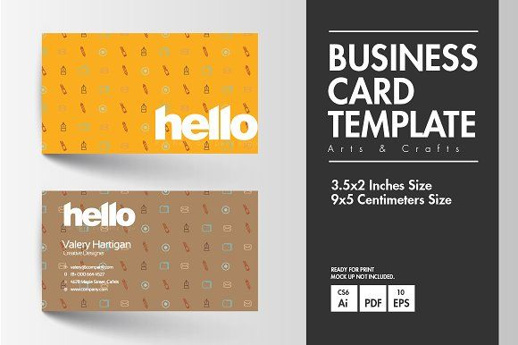 Business Card Arts Crafts Art Business Cards Business Card Type Business Card Template Design