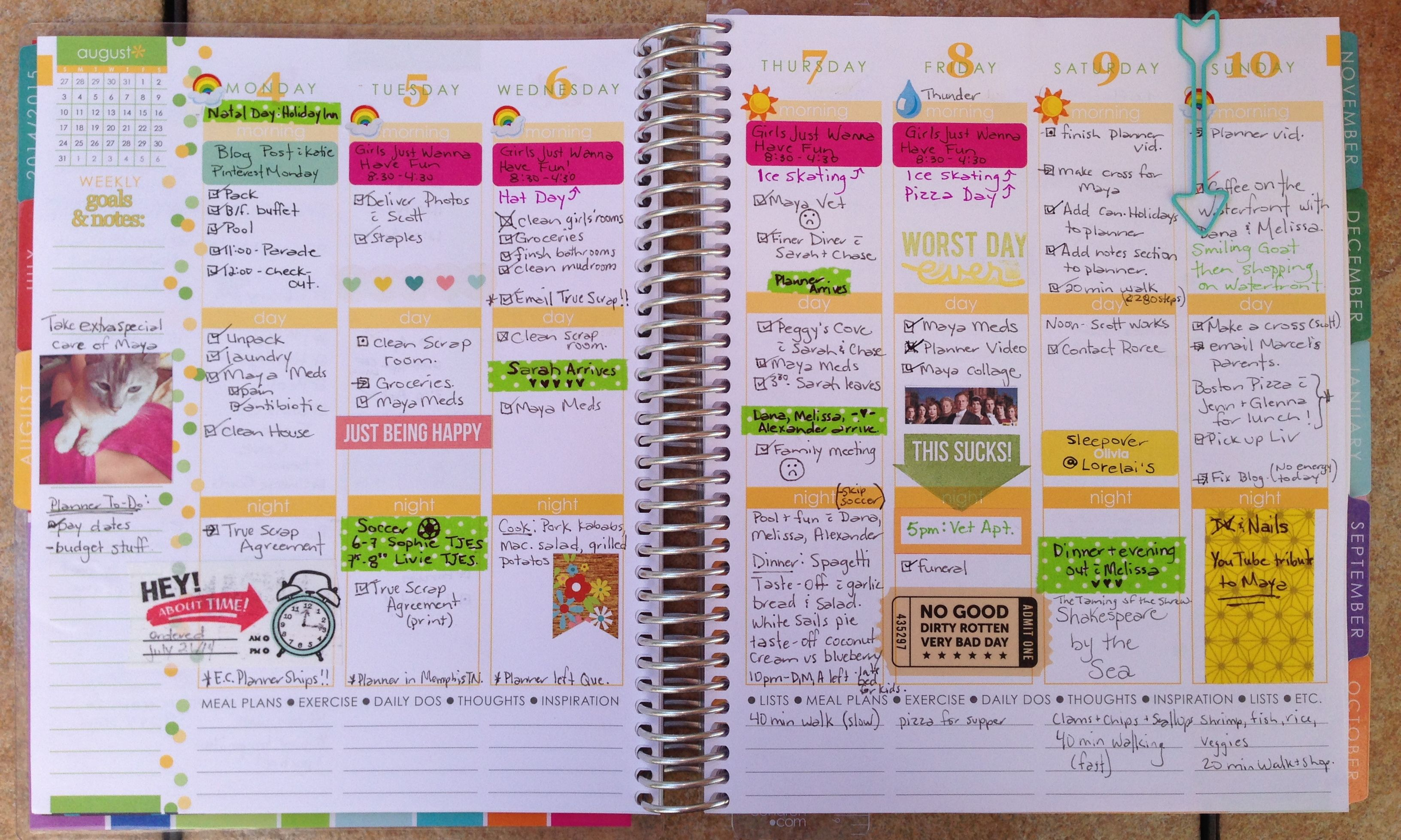 Calendar Planner Erin Condren : My erin condren life planner arrived last week and i m