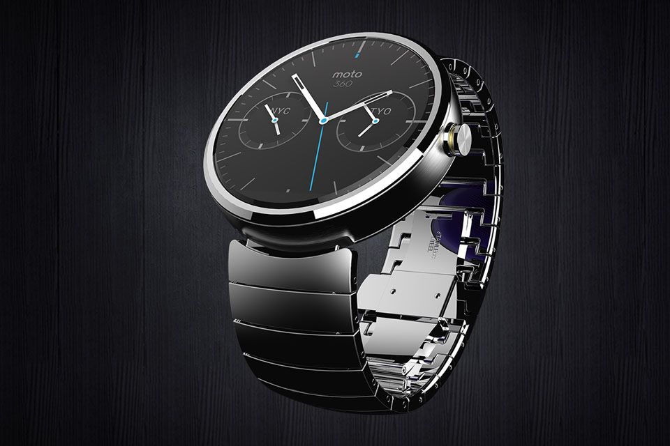 Moto 360 Smartwatch by Motorola, powered by Android Wear, naturally.