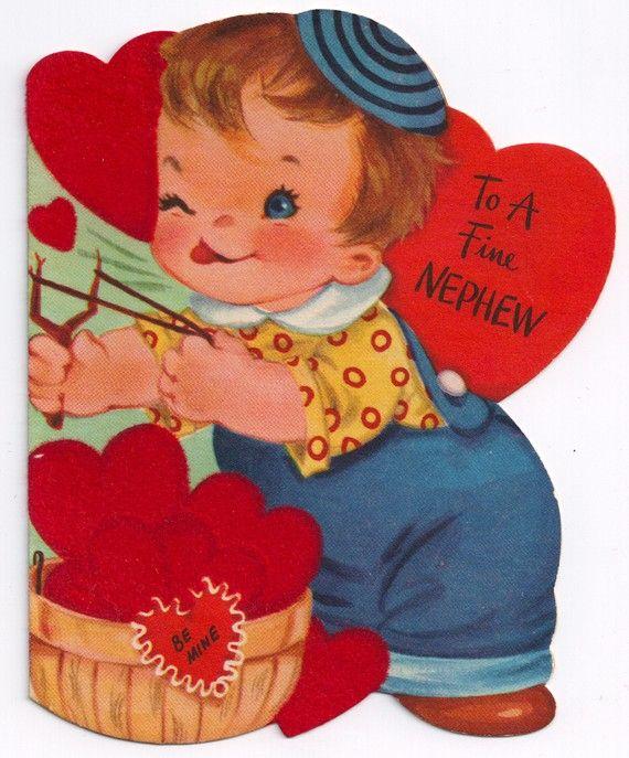 Nephew Valentine Vintage Cards Pinterest – Nephew Valentine Cards