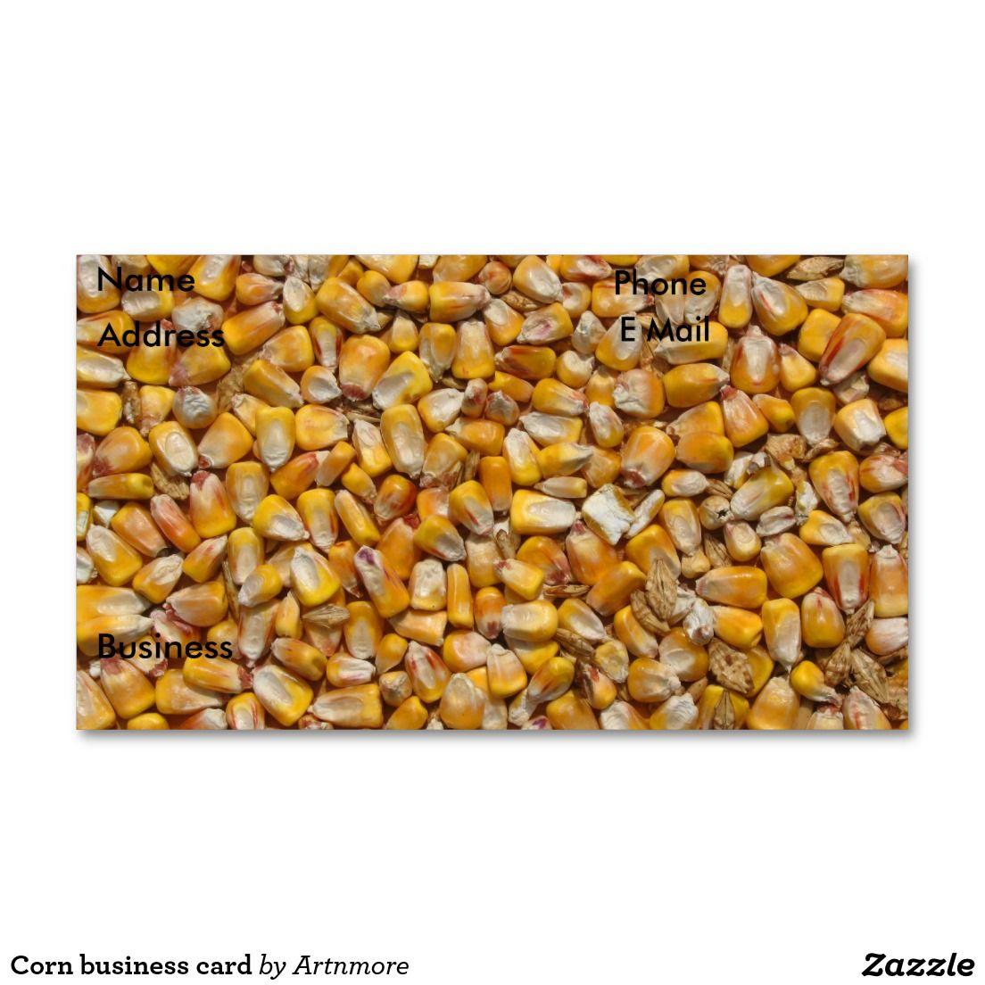 Corn business card