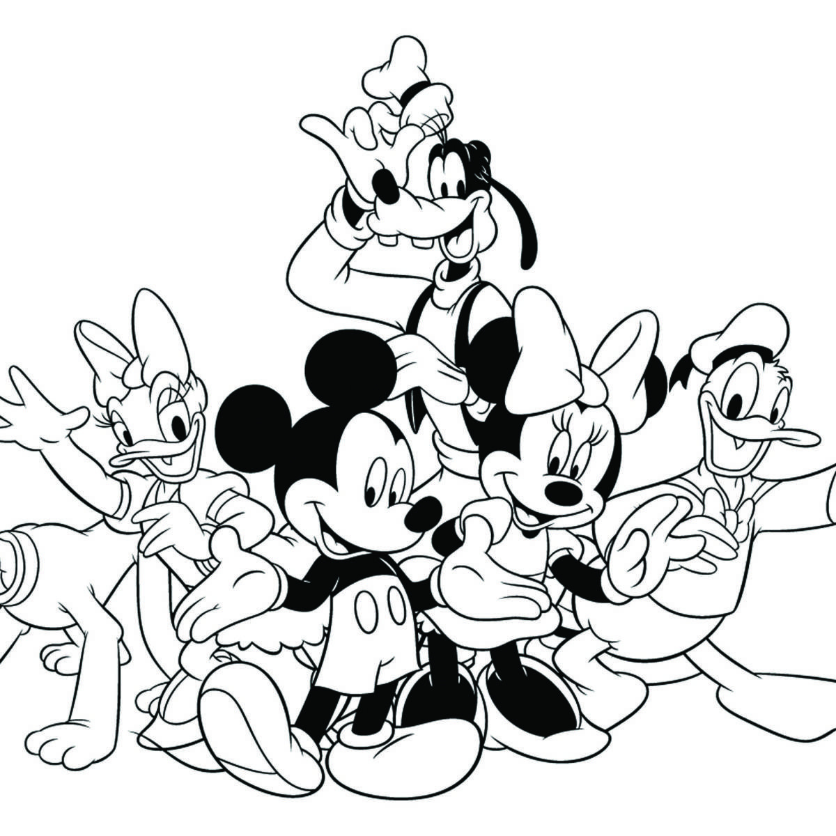 Disney Mickey's Typing Adventure Coloring Page Mickey
