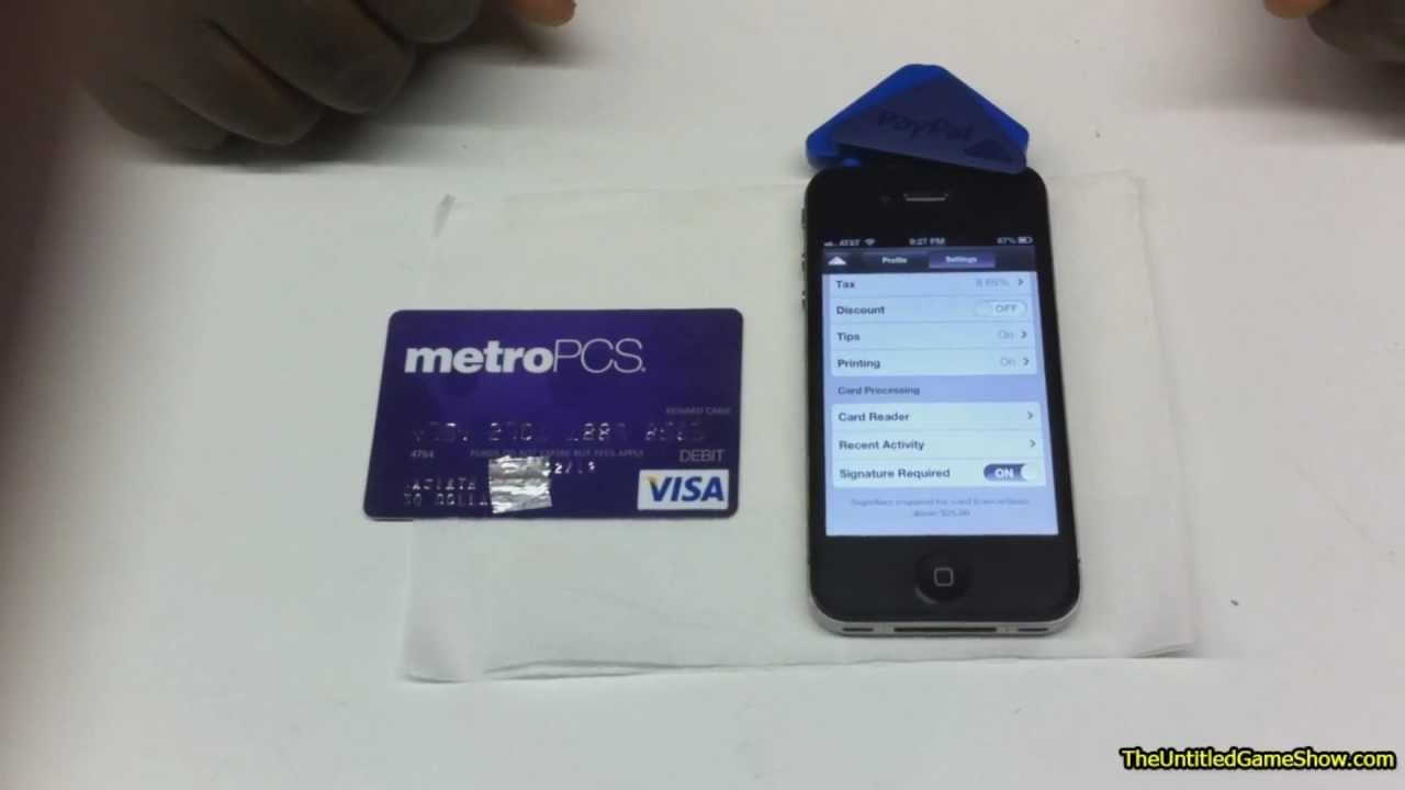 How to accept mobile payments with paypal credit cards
