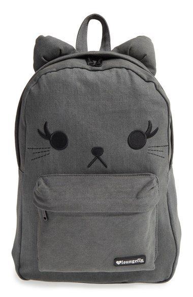Loungefly Denim Cat Backpack (Girls) available at  Nordstrom ... 9ac9f9a666