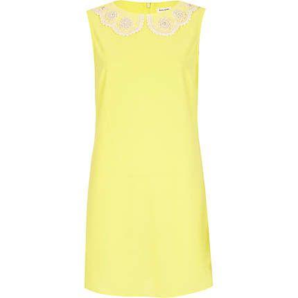 Yellow daisy collar shift dress  £30.00