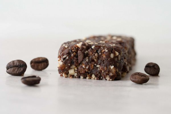 "Mocha Chip ""larabar""  Ingredients: 1/2 cup almonds 1/2 cup walnuts 1 1/4 cup (packed) dates 3 tbsp unsweetened cocoa 1 tsp instant coffee 1.5 tsp vanilla extract 1/4 cup chocolate chips"