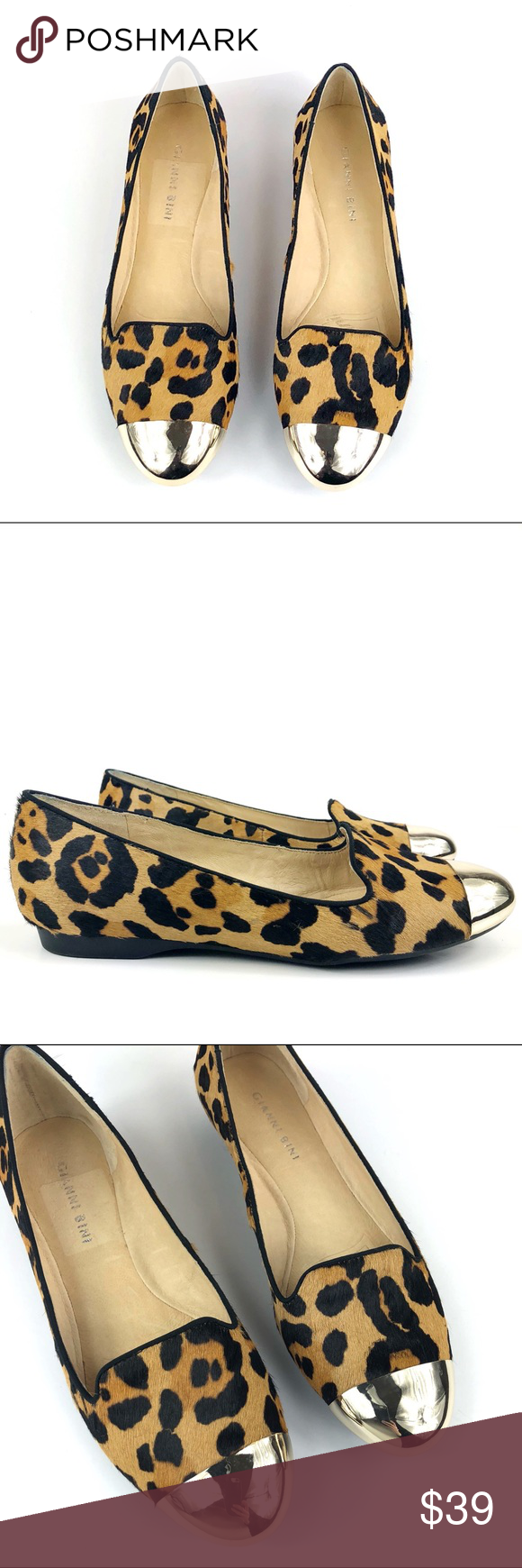 gianni bini leopard flats