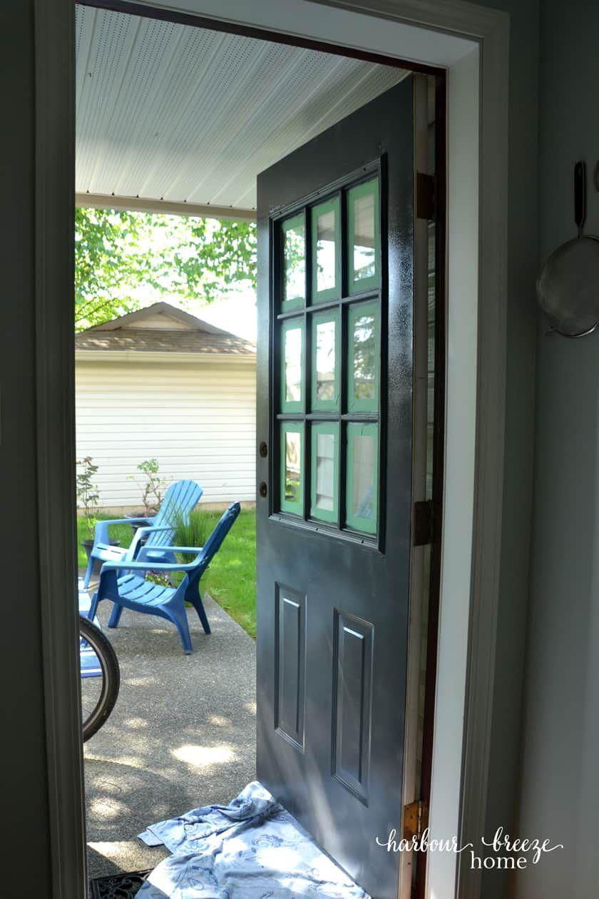 How To Paint Metal Doors With Plastic Trim Painting Metal Doors Metal Door Metal Front Door