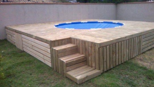 Pallet Decking Outdoor Swimming Pool