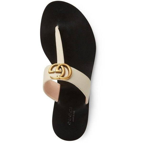 0d653d24887 Women s Gucci Marmont T-Strap Sandal ( 495) ❤ liked on Polyvore featuring  shoes