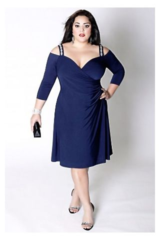 cutethickgirls.com navy blue plus size dress (15) #plussizedresses ...